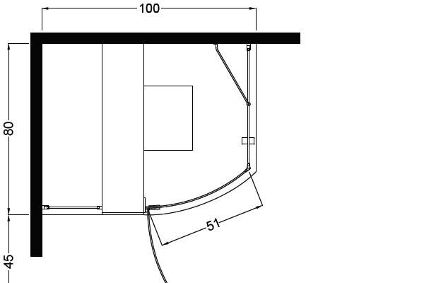 Dusche Offen Oder Geschlossen : Komplettdusche Elle 80x100cm Eckmontage geschlossen + 218,80 ?