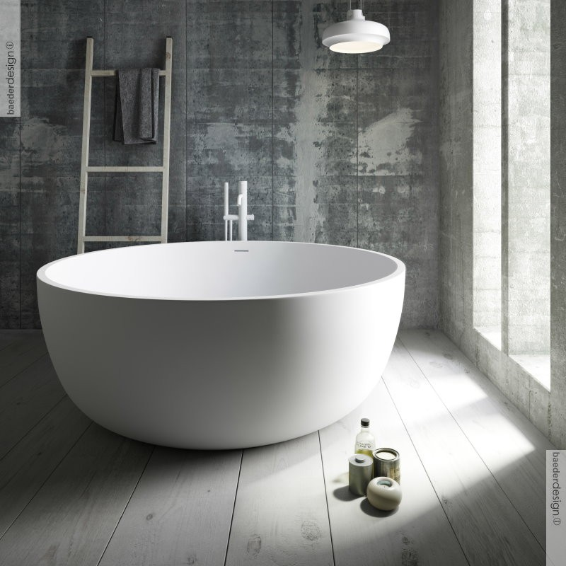 banos10 freistehende badewanne aral aus solidstone 150 cm durchmesser. Black Bedroom Furniture Sets. Home Design Ideas
