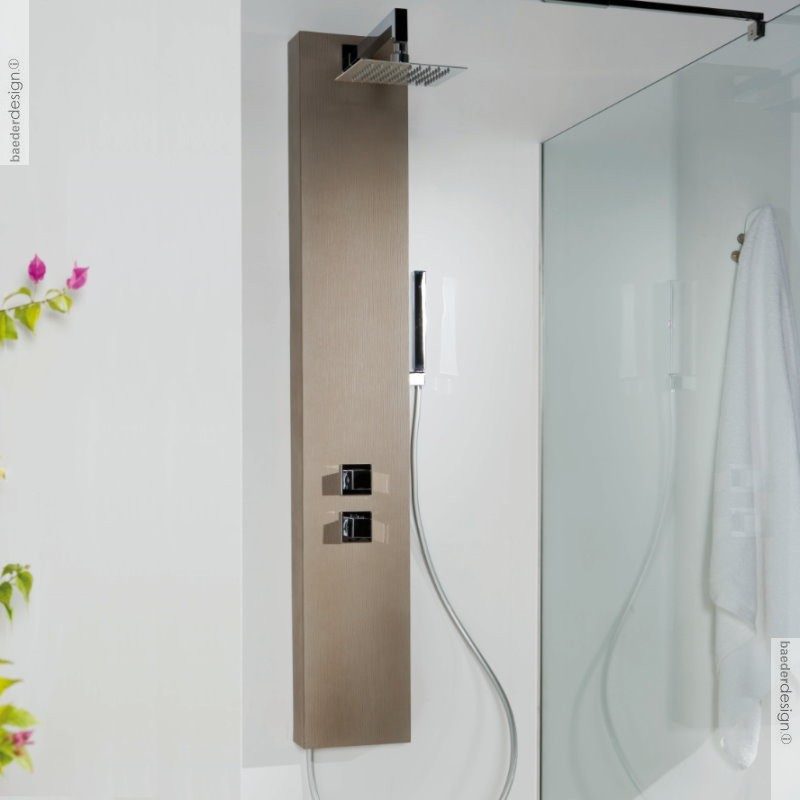 duschpaneel forest banos10 mit 3 wege umschalter oberfl che aus solidstone in. Black Bedroom Furniture Sets. Home Design Ideas