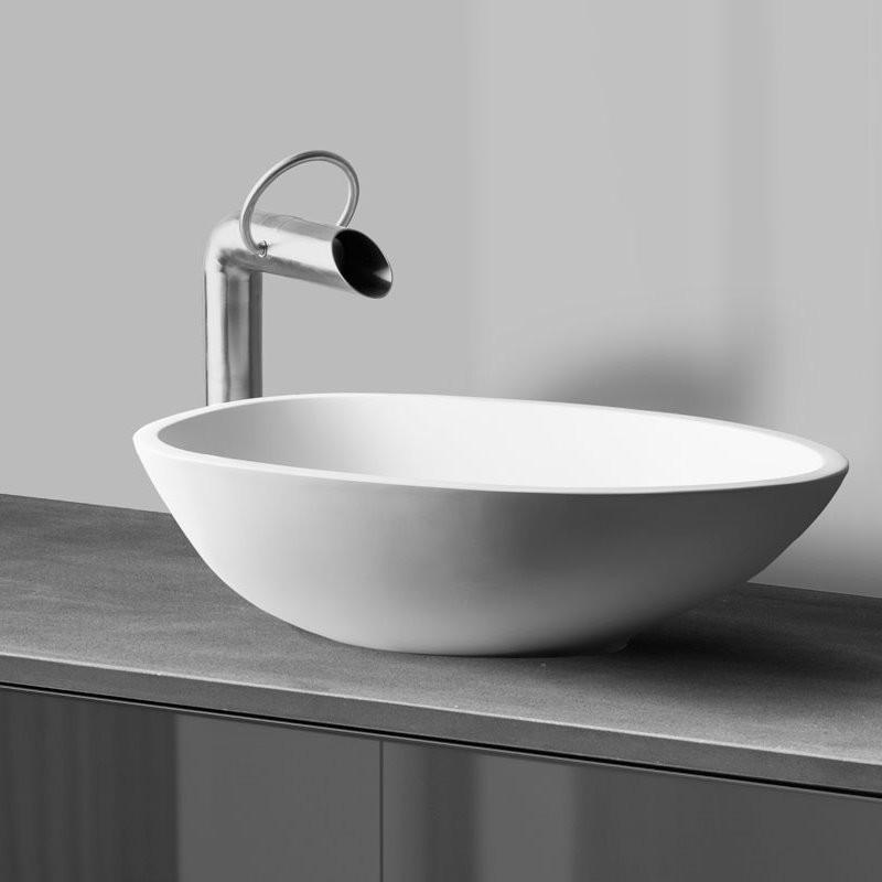 jee o hohe waschtischarmatur pure edelstahl. Black Bedroom Furniture Sets. Home Design Ideas