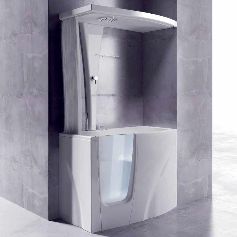 gruppo treesse sitzbadewanne gen y mit t r v3411. Black Bedroom Furniture Sets. Home Design Ideas