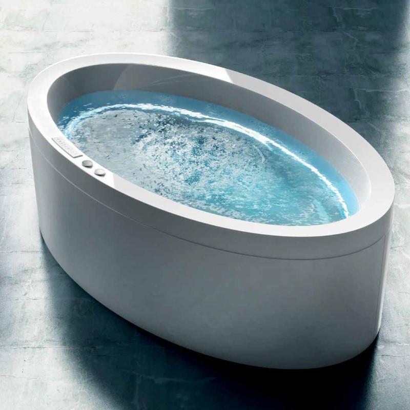 gruppo treesse ovale badewanne dream 190x110 mit whirlpool ghost system design marc sadler. Black Bedroom Furniture Sets. Home Design Ideas