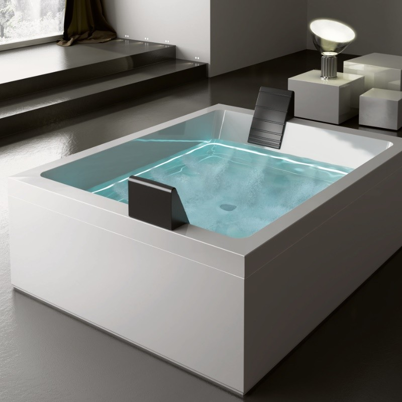 gruppo treesse badewanne dream 200x160 mit whirlpool ghost system. Black Bedroom Furniture Sets. Home Design Ideas