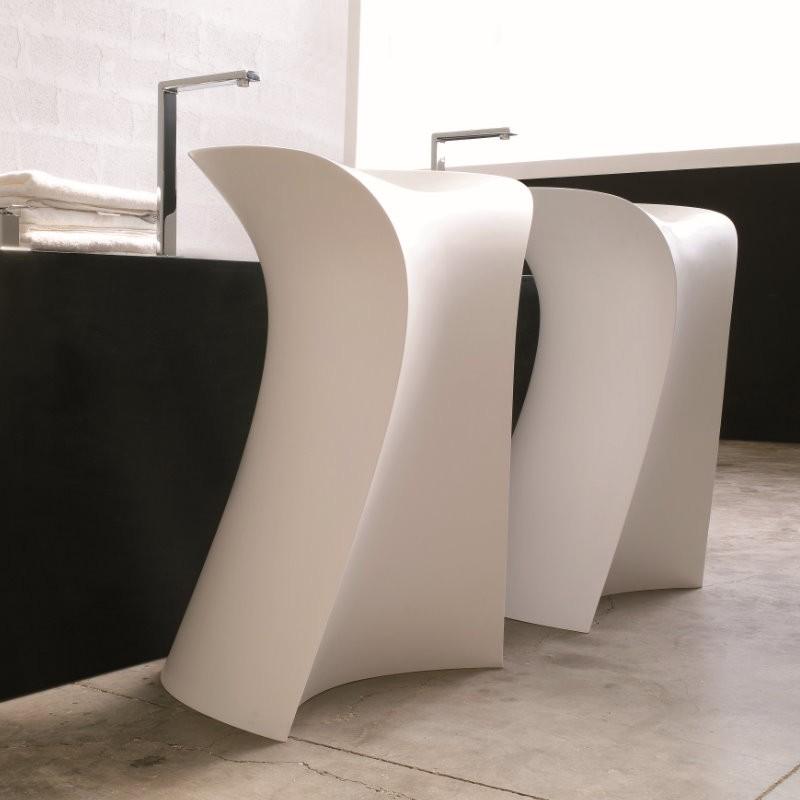 art ceram freistehendes waschbecken miss 58x57cm design paolelli und meneghello mi15. Black Bedroom Furniture Sets. Home Design Ideas