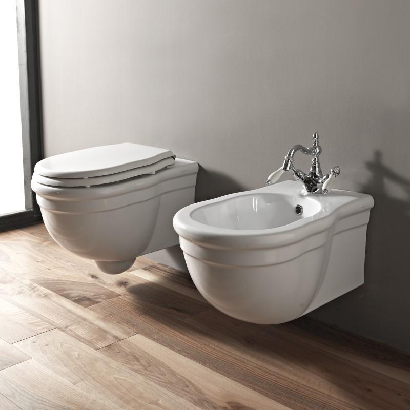hidra nostalgisches wandh ngendes wc ellade. Black Bedroom Furniture Sets. Home Design Ideas