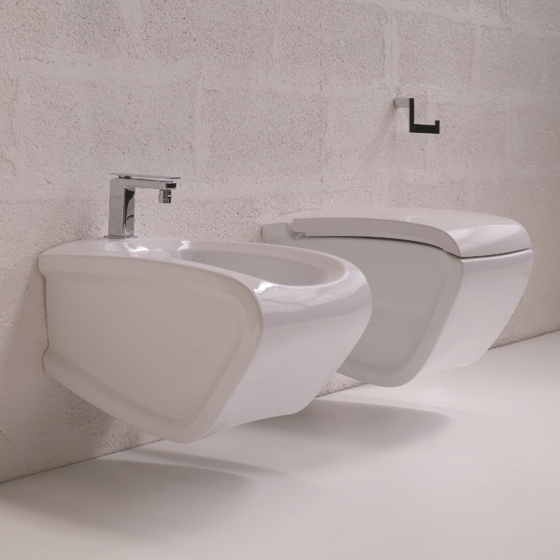 Wand wc bidet kombination