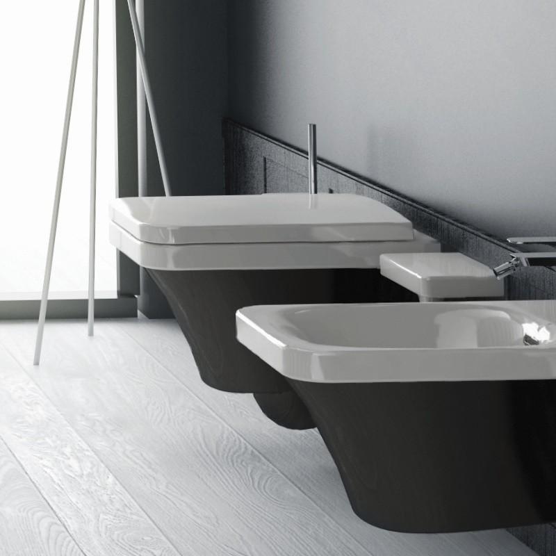 Hidra ceramica wand wc mit wc sitz flat tiefsp ler for Wand und deckenleuchten set