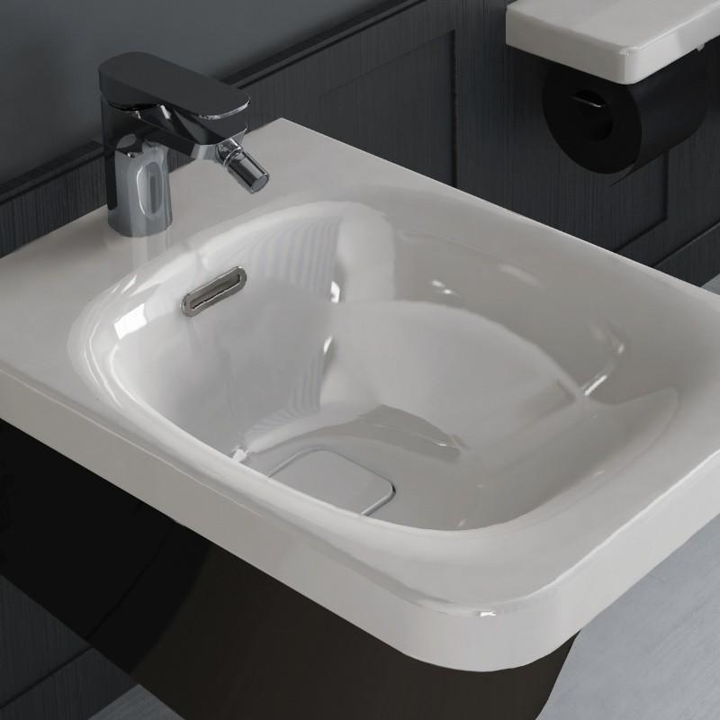 hidra ceramica wand bidet mit hahnloch flat design paolelli meneghello. Black Bedroom Furniture Sets. Home Design Ideas