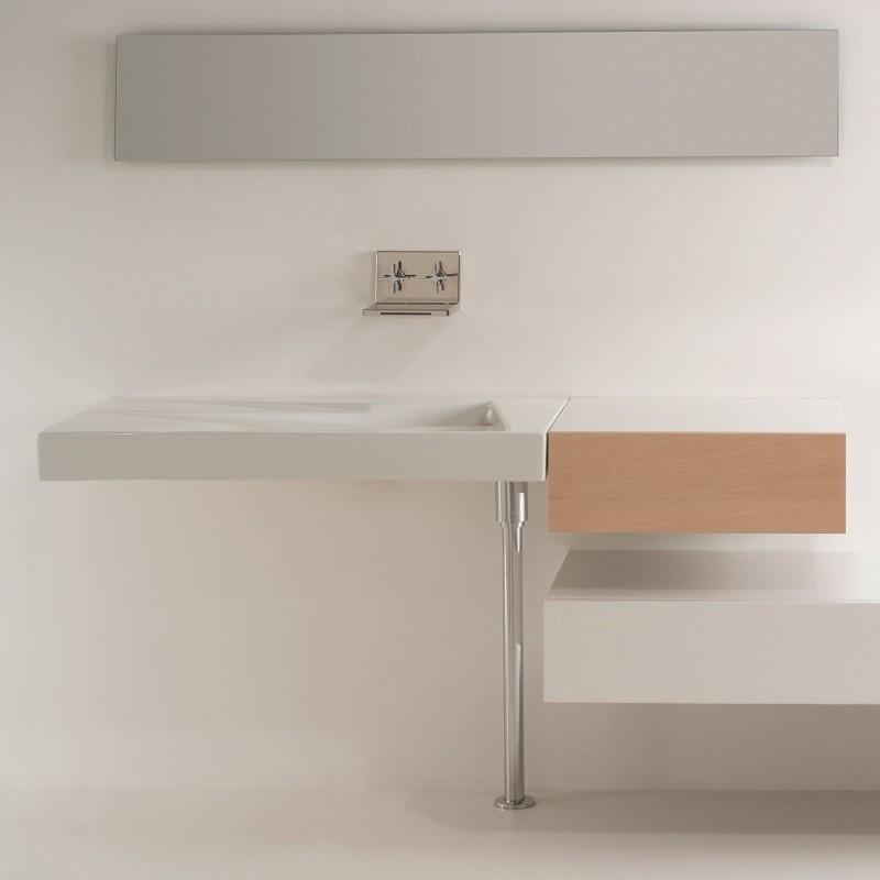 gsg ceramic design waschtisch oz mit ablaufschlitz ohne hahnloch 95cm. Black Bedroom Furniture Sets. Home Design Ideas