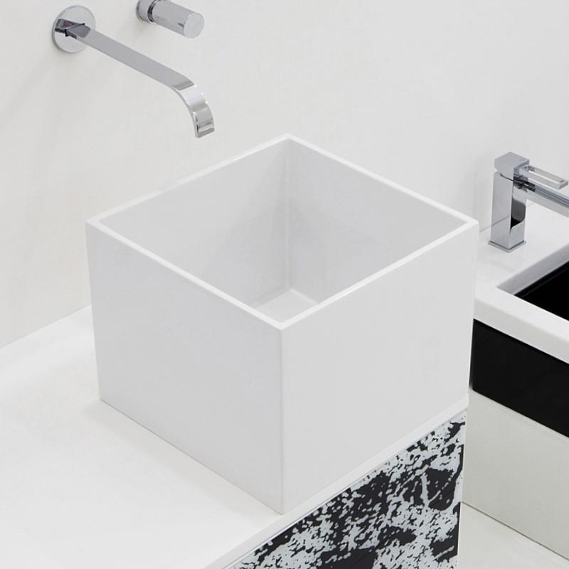 waschbecken eckig ohne hahnloch. Black Bedroom Furniture Sets. Home Design Ideas