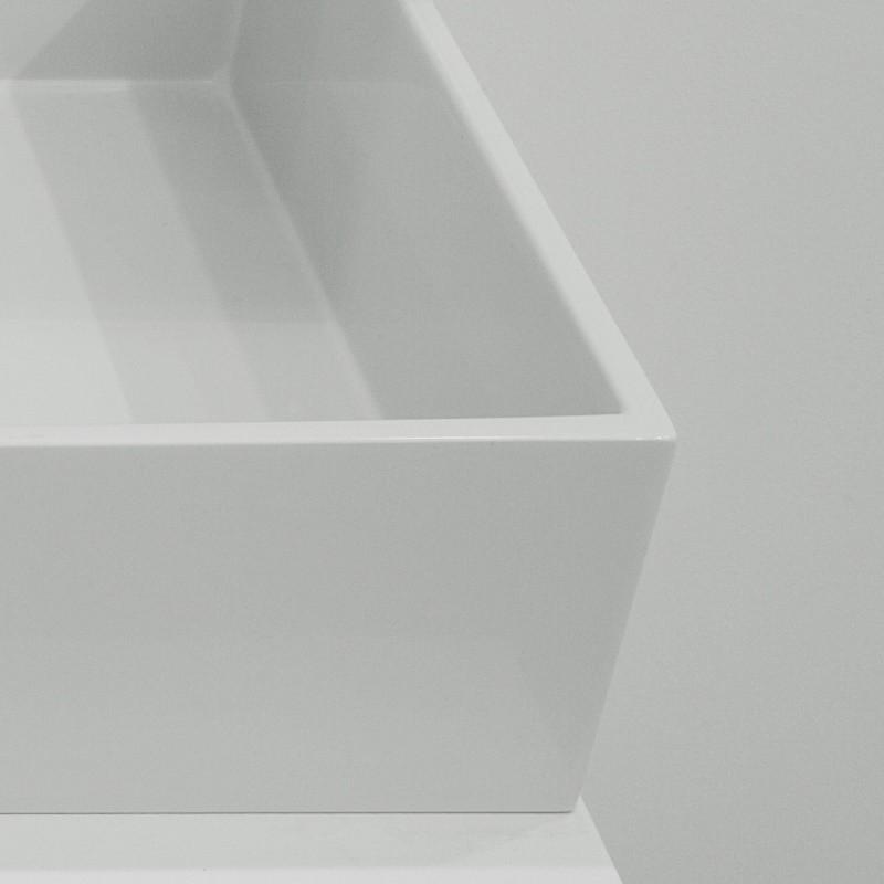 Waschbecken eckig ohne hahnloch  GSG Ceramic Design | Waschschale Box 33 cm | aus Crystaltech ...