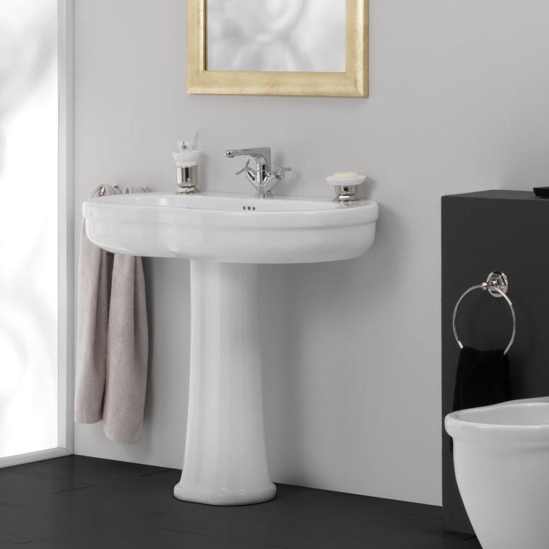 gsg ceramic design verspielt nostalgisches s ulen waschbecken mit hahnloch aus der collection. Black Bedroom Furniture Sets. Home Design Ideas