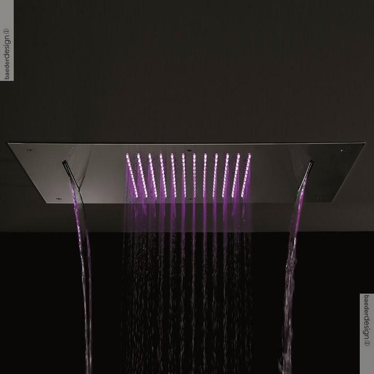 deckenmontierte regenbrause von ritmonio 70x38cm gefertigt aus edelstahl. Black Bedroom Furniture Sets. Home Design Ideas