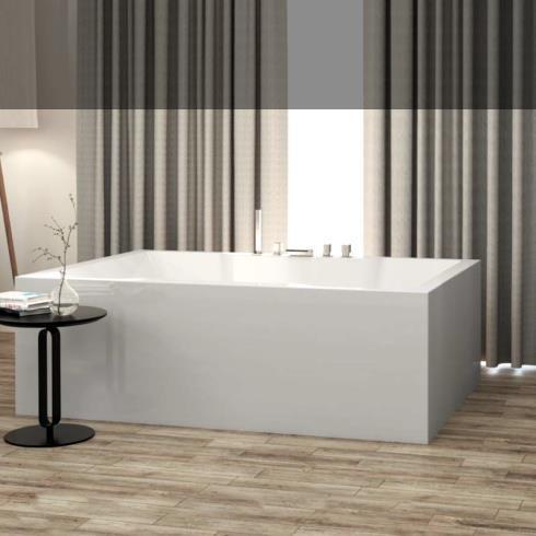 große freistehende rechteckige Badewanne Badewanne Iroh | 180x120