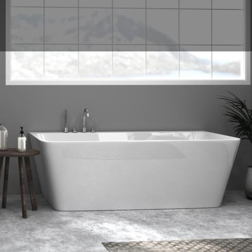 Banos10 | Wand-Badewanne Kessel | weiß | 170x90