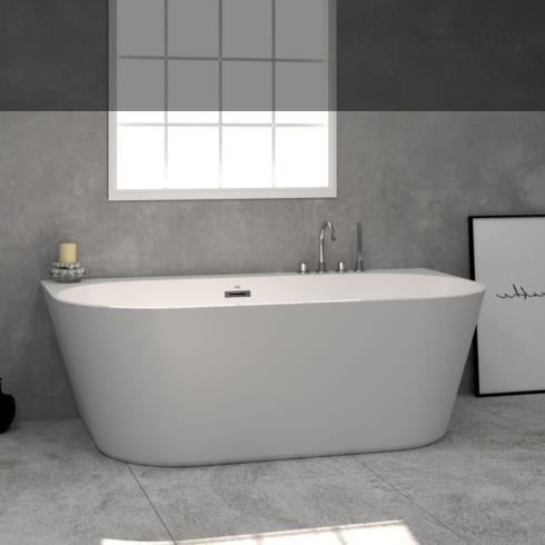 Banos10 | Wand-Badewanne Taris | weiß | 170x90