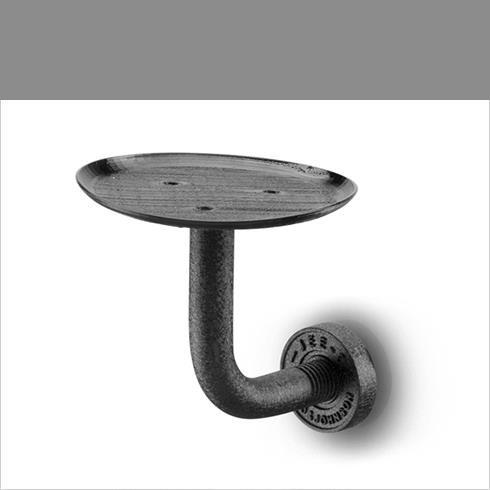 JEE-O | Seifenschale Soho | Hammerschlagbeschichtung | schwarz matt