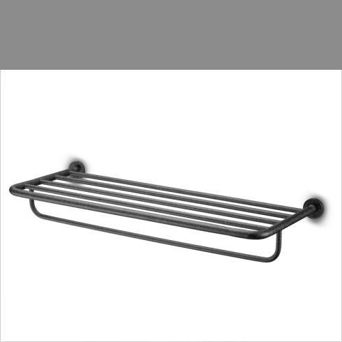 JEE-O | Handtuchablage 70cm Soho | Hammerschlagbeschichtung | schwarz matt