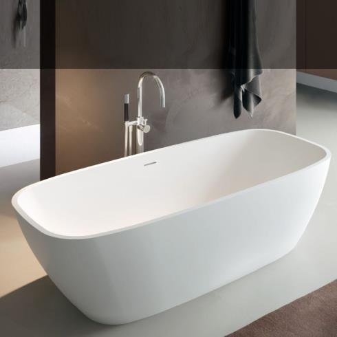 Freistehende Badewanne Brio | weiß matt