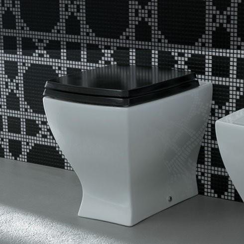 Stand-WC Jazz | Soft Close Sitz schwarz