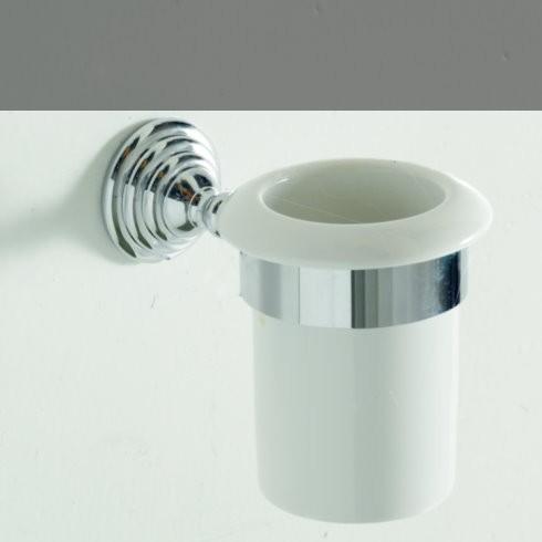 Becherhalter Victoria   Keramik weiß / chrom