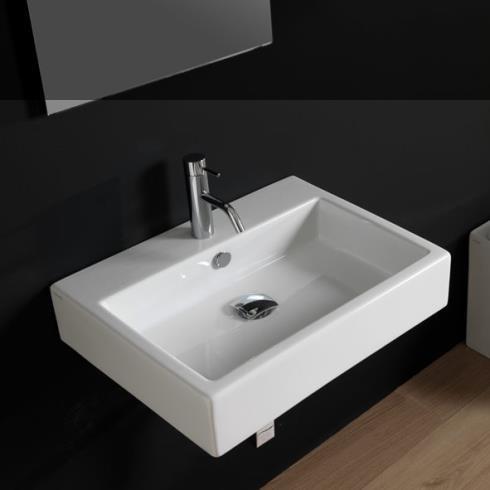 GSG | Waschtisch Quad 60 | weiß glänzend
