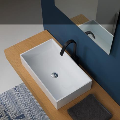 Waschtischschale Box | 60 x 35,5 | weiß