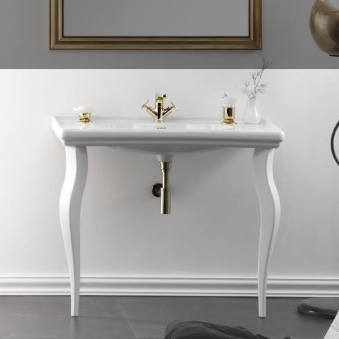 GSG | Time | klassischer Waschtisch mit Beinen | 105cm
