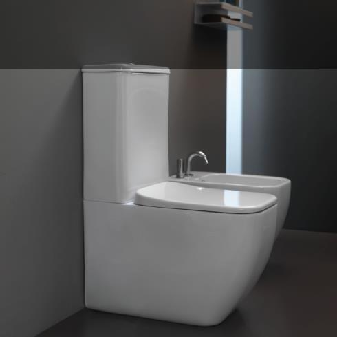 GSG | Stand WC mit Spülkasten | Serie Brio | Soft Close WC-Sitz Slim Quick Release