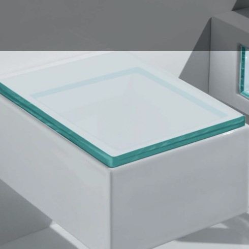 WC-Sitz Glass | transparenter Kunststoff