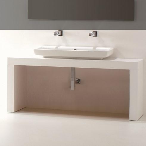 Waschtischbank  weiß | Schublade optional