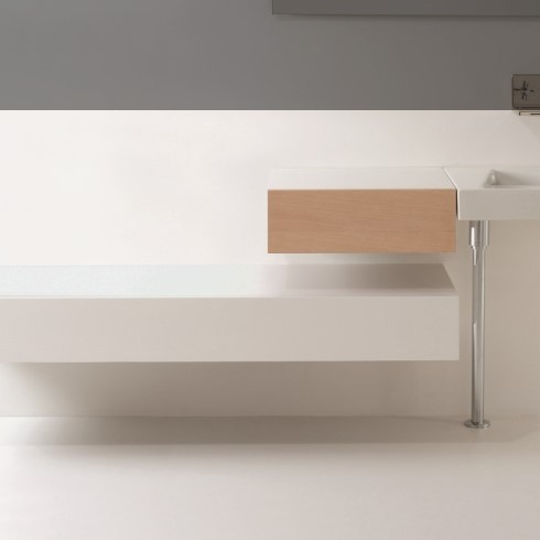 Schubladenelement 55cm in Eiche | 155 cm in weiß