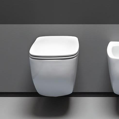 Axa Wand-WC White Jam   spülrandlos   52cm   mit WC-Sitz weiß