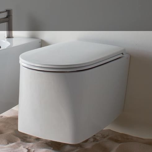 Axa Wand-WC DP | spülrandlos | 50cm | mit WC-Sitz weiß