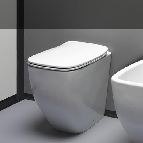 Axa Stand-WC White Jam | spülrandlos | 52cm | mit WC-Sitz weiß
