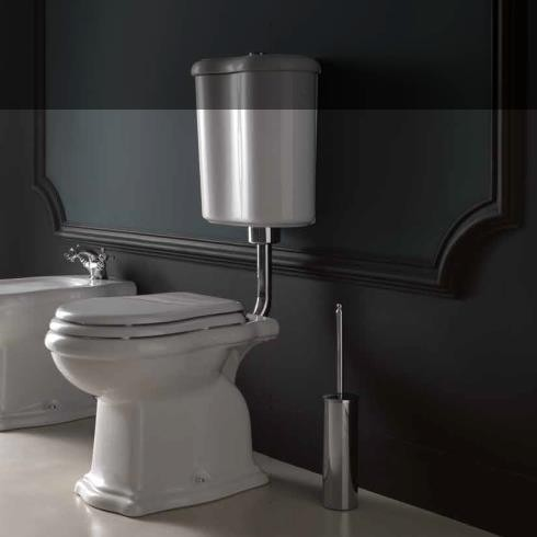 Axa Stand-WC Contea mit Wandspülkasten | mit WC-Sitz in weiß