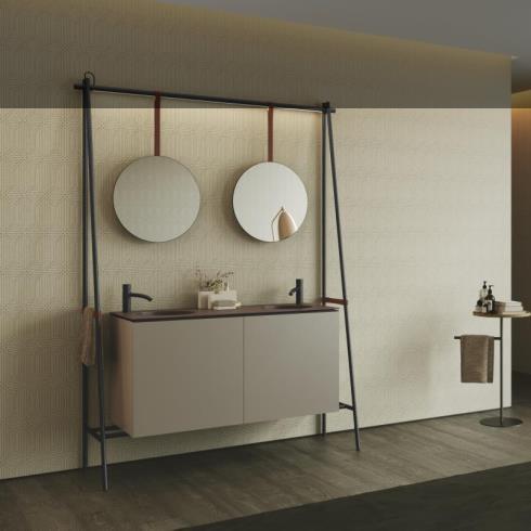 Axaone Altalena | Doppel-Standwaschtisch | 150x48 | siena matt | visione matt