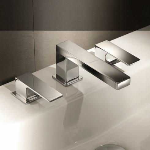 Fantini Waschtischmischer für Waschbecken mit drei Hahnlöchern Serie Mint | chrom