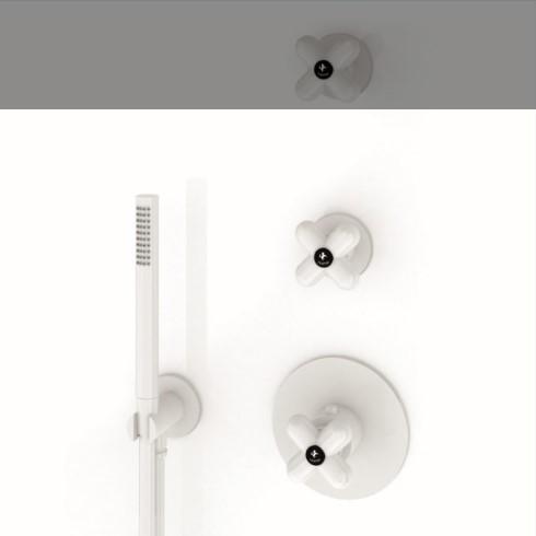 Zwei-Wege Thermostat I Balocchi | weiß matt | mit Handbrause und Wandbogen