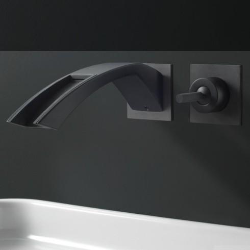 Wandarmatur Arche | schwarz matt | Kaskadenauslauf