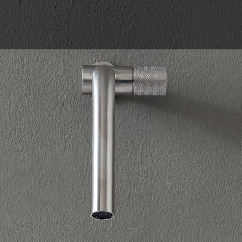 Unterputz-Waschtischmischer 22mm | Einhand-Bedienung rechts | Edelstahl gebürstet