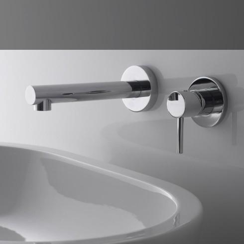 Treemme Serie  Vela | Waschtisch-Wandauslauf | chrom | Einzelrosetten, langer Auslauf