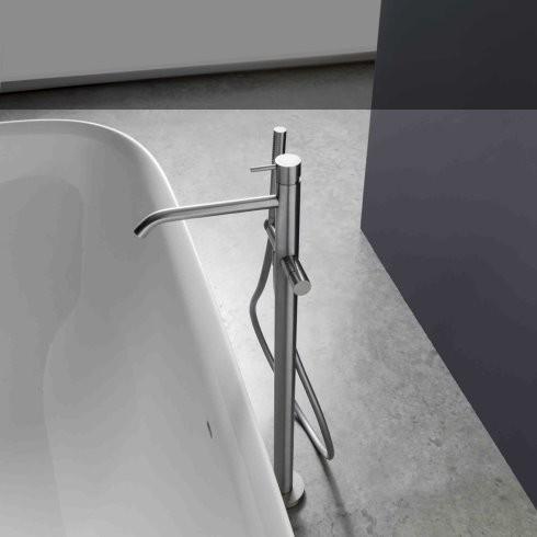 Treemme | freistehende Wannenfüllarmatur 40mm | Edelstahl gebürstet