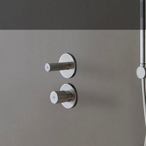 Unterputz-Duschenmischer 22mm | Einhand-Bedienung | Edelstahl gebürstet