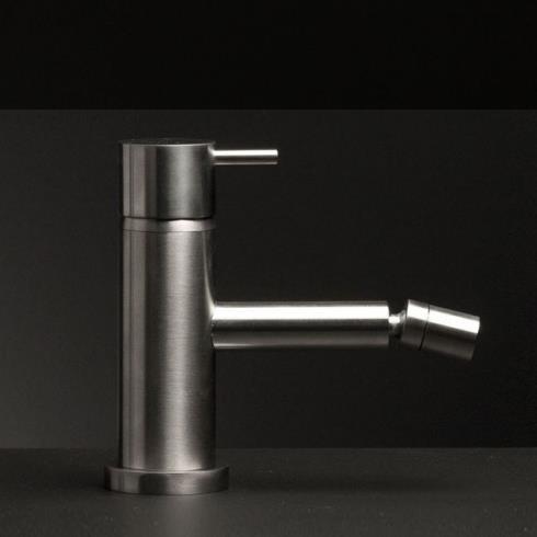 Einhebel-Bidetmischer Diametrotrentacinque | Edelstahl gebürstet | schwenkbarer Auslauf