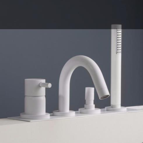 4-Loch Wannenrandmischer Diametrotrentacinque | weiß matt
