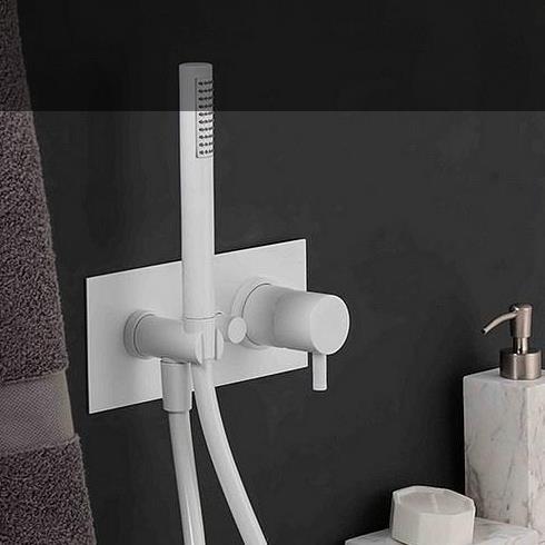 Unterputz-Duschenmischer Diametrotrentacinque | ohne Auslauf | weiß matt