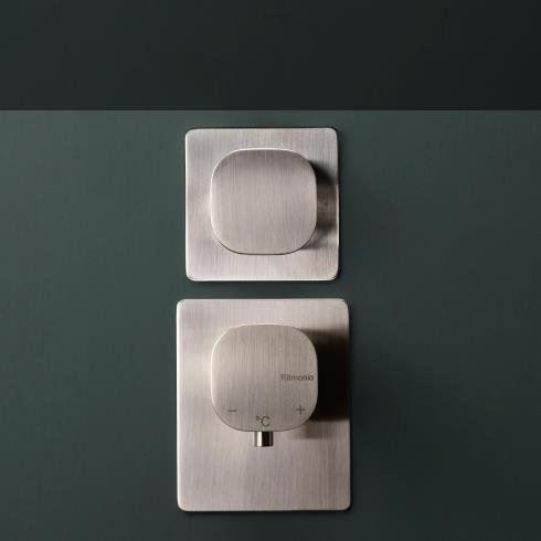 Unterputz 2- / 3-Wege Thermostat Taormina | nickel gebürstet
