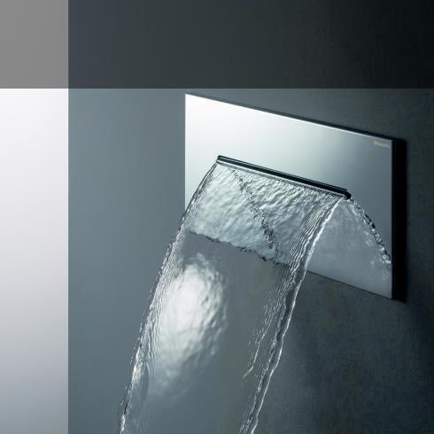 Einbau- Wasserfallbrause | Edelstahl