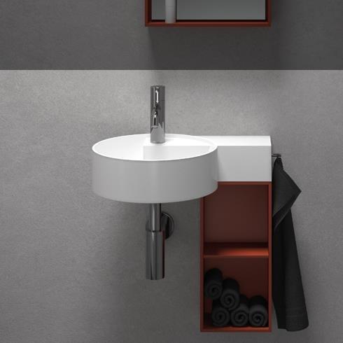 Hand-Waschbecken Scala | mineral matt weiß | 460x342x105